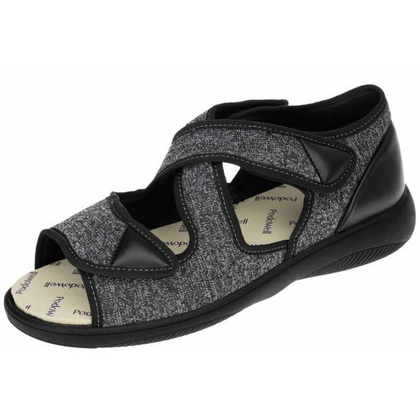 PodoWell Atlas Noir wygodne zdrowotne męskie sandały