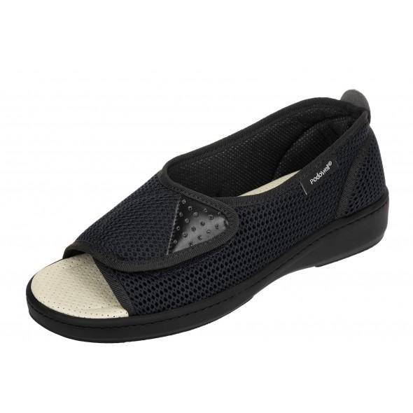 PodoWell Allure Noir wygodne zdrowotne damskie sandały