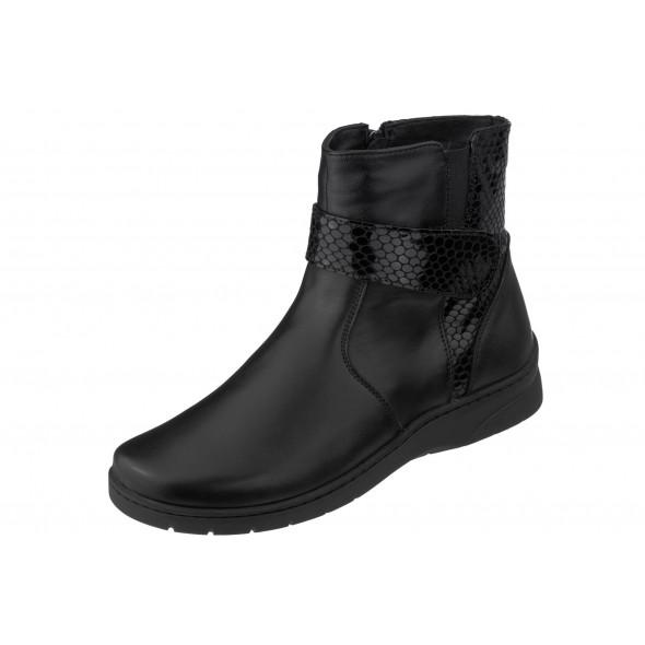 Axel Comfort 4461 wygodne czarne damskie botki